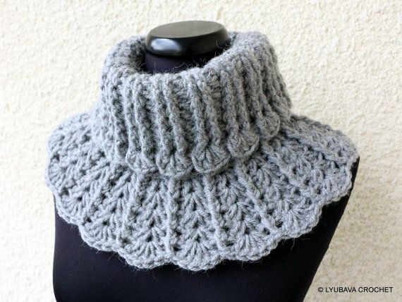 Crochet Neck Warmer Pattern Chunky Crochet Scarf Diy Winter