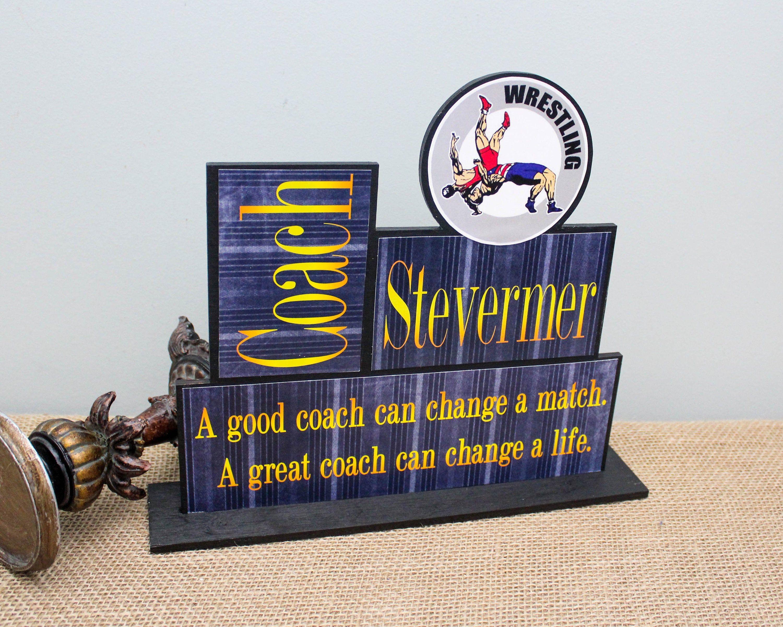 Wrestling Coach Gift Idea End Of Season Coach Gift
