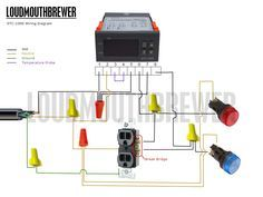 Wiring Diagram Indicator Lights : Diy stc stage temperature controller wiring diagram with