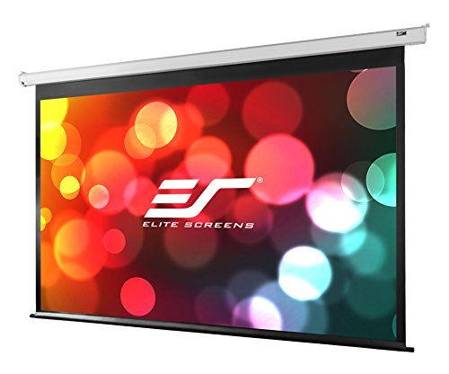 Elite Screens Vmax2 Series 120 Inch Diagonal 16 9 Electric Drop Down Projection Screen Model Vmax120xwh2 Electric Screen Projection Screen Best Projector