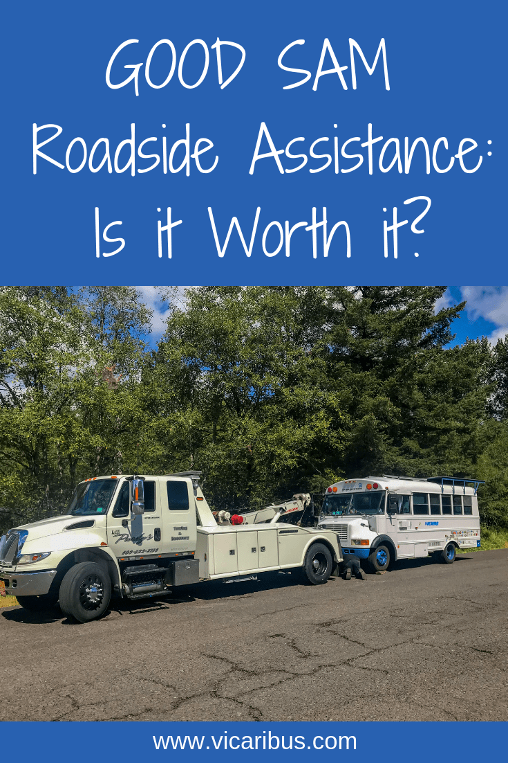 good sam roadside assistance, getting towed, life on the