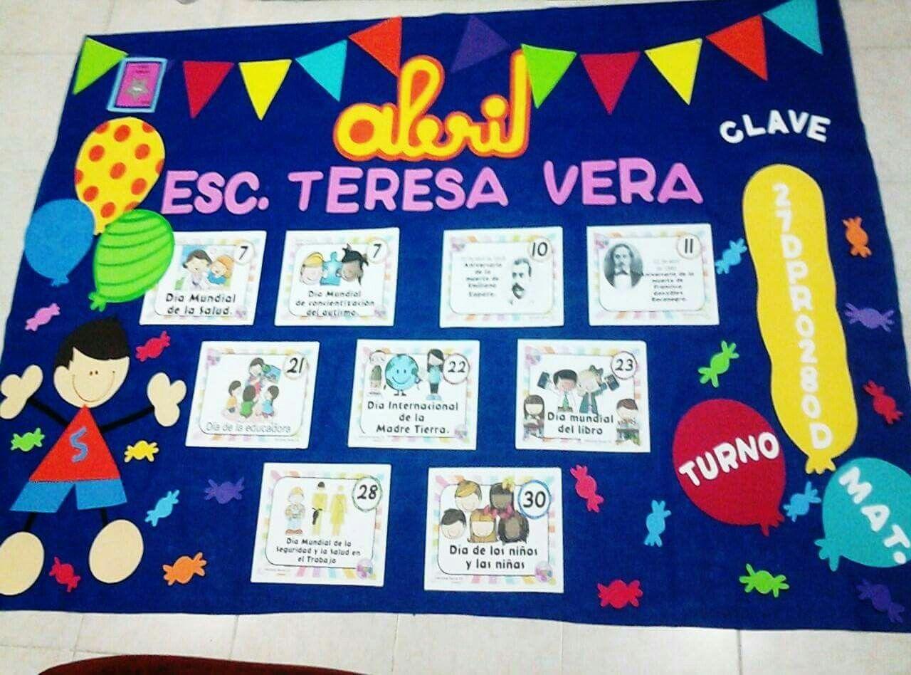 Periodico mural abril material did ctico pinterest for Componentes de un periodico mural
