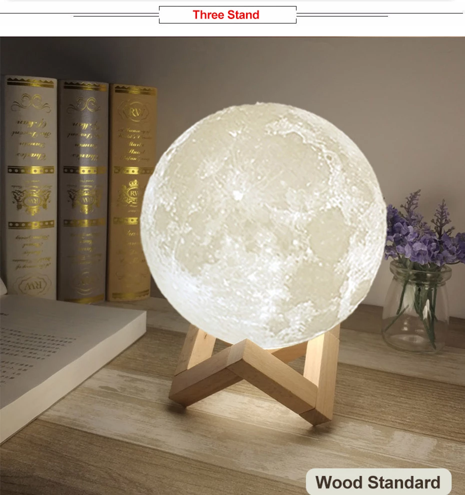 Ultrasonic Moon Air Humidifier Aroma Essential Oil