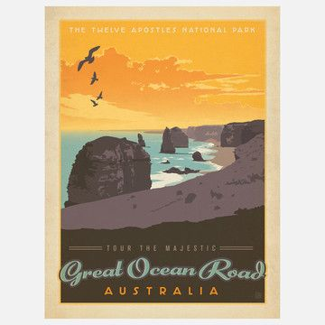 Anderson Design Group | Great Ocean Road Print, $29, now featured on Fab.
