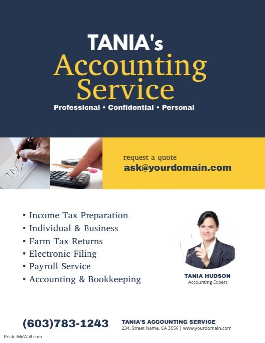 Accounting Service Flyer Poster Ad Template | Accounting ...