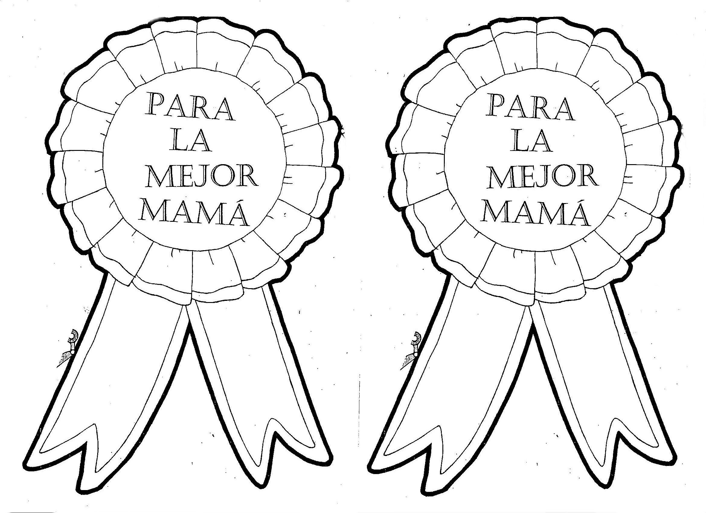 Medallas Para La Mejor Mama Dibujalia Dibujos Para Colorear