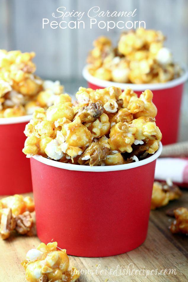 karamell popcorn recept