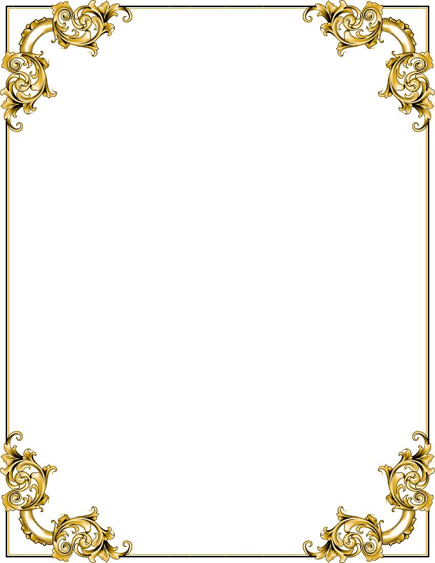 Gold Border Frame Png Transparent Image Png Mart Clip Art Frames Borders Frame Border Design Art Images