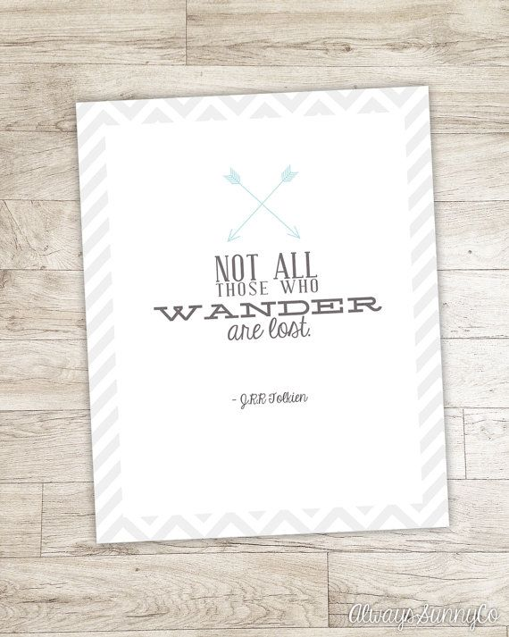 Tolkien Quote printable, not all those wander are lost