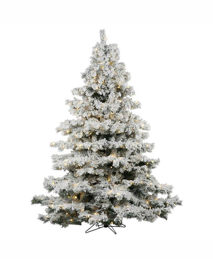 Vickerman 7 5 Flocked Alaskan Pine Artificial Christmas Tree With 90 With Images Flocked Artificial Christmas Trees Pre Lit Christmas Tree White Artificial Christmas Tree