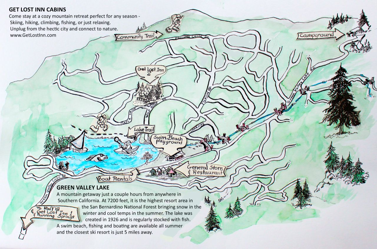big bear lake fishing map Looking For A Fun Activity Map Of Green Valley Lake California big bear lake fishing map