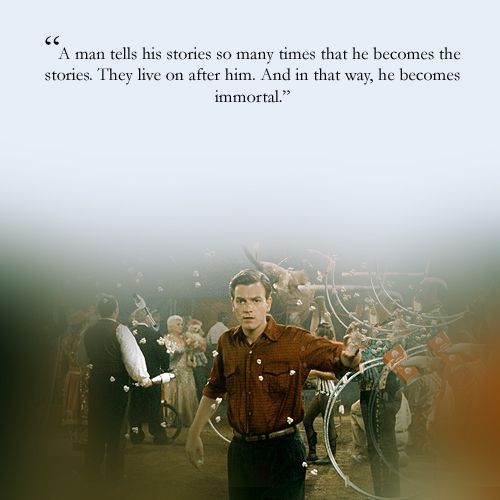 A man is a story beyond cine pinterest big fish for Big fish the movie