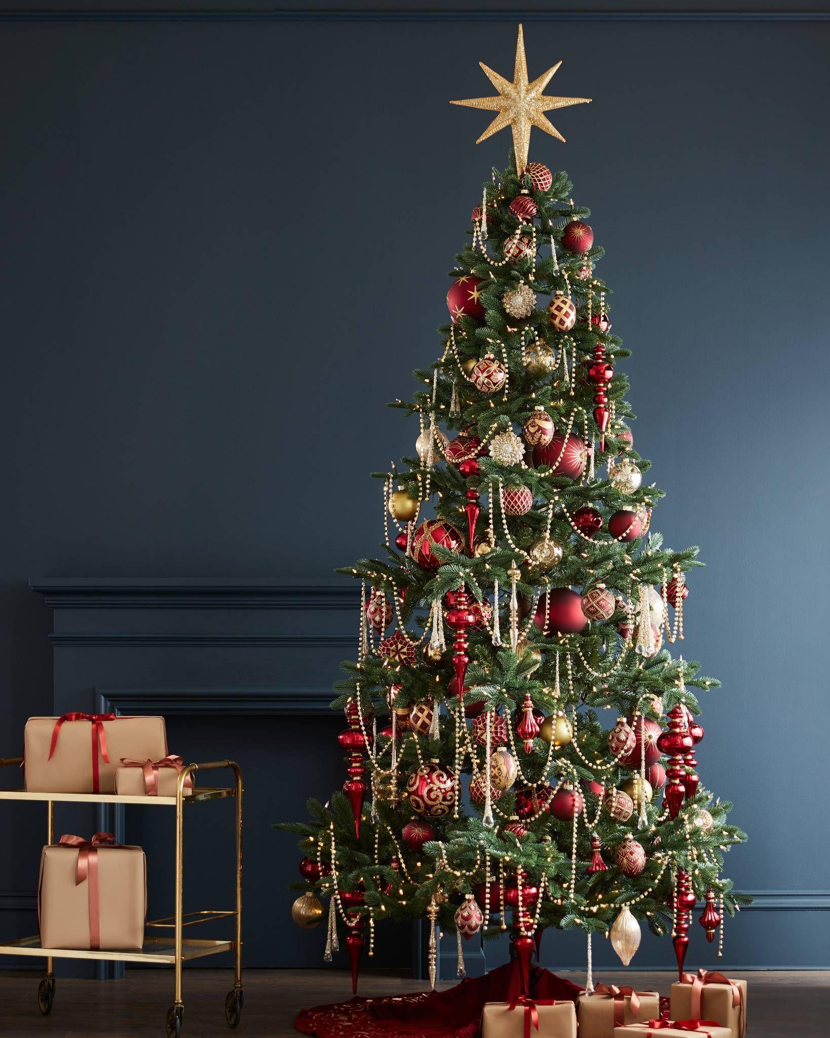Brilliant Bordeaux Ornament Set Balsam Hill Jeweled Christmas Trees Christmas Tree Garland Victorian Christmas Tree