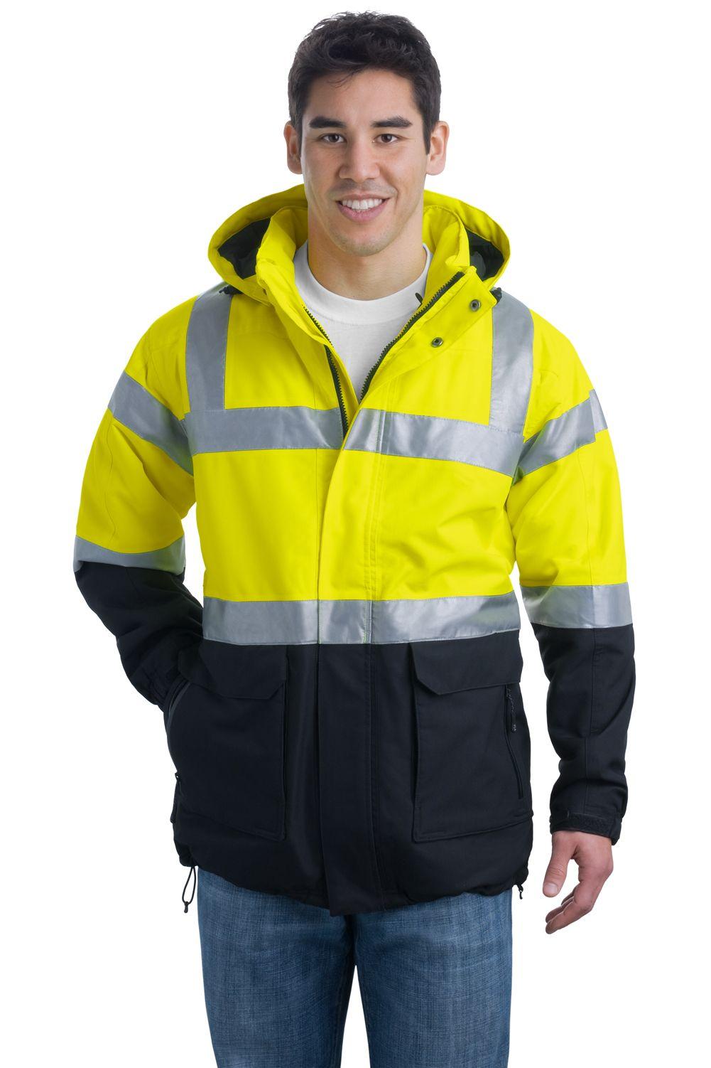 Port authority safety parka jacket ansi class 3