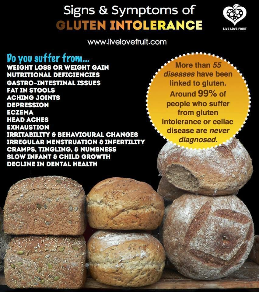 99% of people who suffer from gluten intolerance and ...
