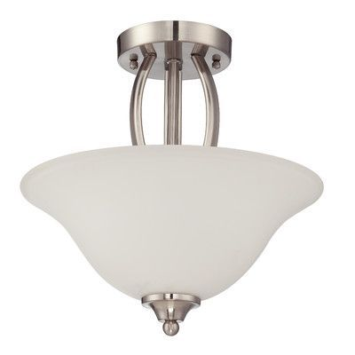 Jeremiah Northlake 2 Light Semi Flush Mount Finish: