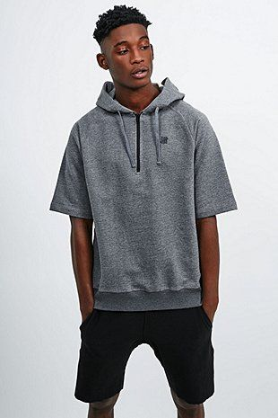 6c7e6c05 Undefeated Tech Short Sleeve Hoodie in Grey | Men sports | Short ...