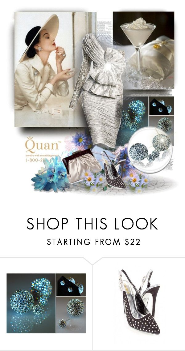 """""""Candra Double Crystal Ball Earrings - QuanJewelry.com 2"""" by jnatasa ❤ liked on Polyvore featuring Rawlings, Trilogy and Zuhair Murad"""