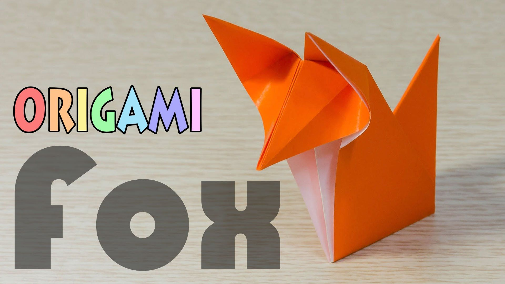 How to make a traditional talking origami fox: page 1 | 1080x1920