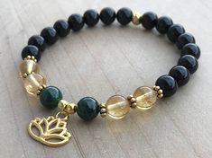 Photo of Viel Glück Armband, Malachit Armband, Citrin Armband, Armband aus schwarzem Turmalin, Lotus-Blume, Yoga Armband, spirituelle Armband