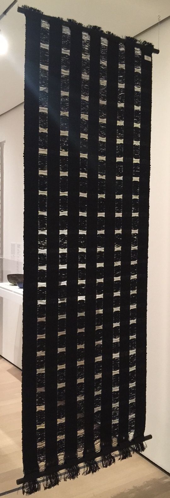 Freehanging room divider cellophane u cord by anni albers