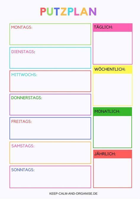 Putzplan Putzplan Deutsch Putzplan Vorlage Putzplan Familie Putzplan Wg Putzplan Ausdrucken Putzplan A Putzplan Wg Planer Vorlagen Reinigungsplan Vorlagen