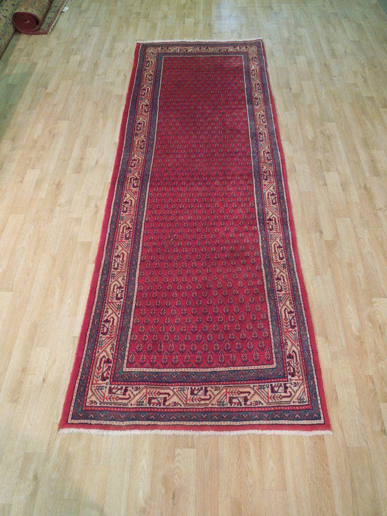 Perfect Gift Hand Woven 4 X 10 Persian Sarouk Runner Genuine Iranian Carpet