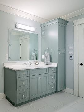 Master Bath Vanity And Tall Cabinet Master Bath Vanity Bathrooms Remodel Small Bathroom Remodel