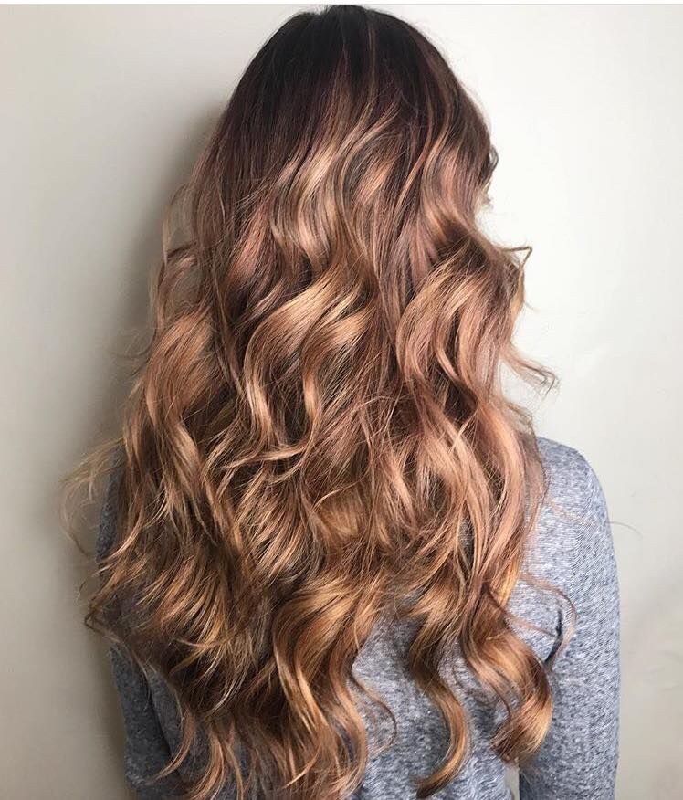 Rose Gold Hair Rose Gold Beach Waves Long Hair Styles Pastel Hair Curls Waves Wavy Hair Curly Hair Rose Gold Hi Long Hair Styles Gold Hair Pastel Hair