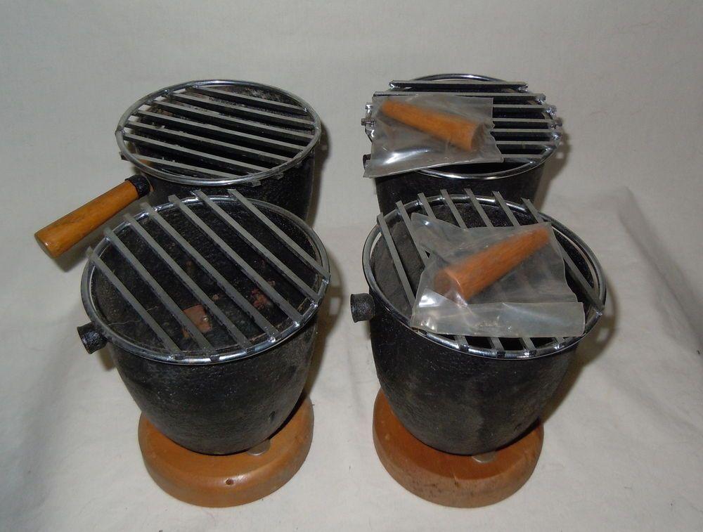 Vintage Japanese Mini Cast Iron Portable Hibachi Grill