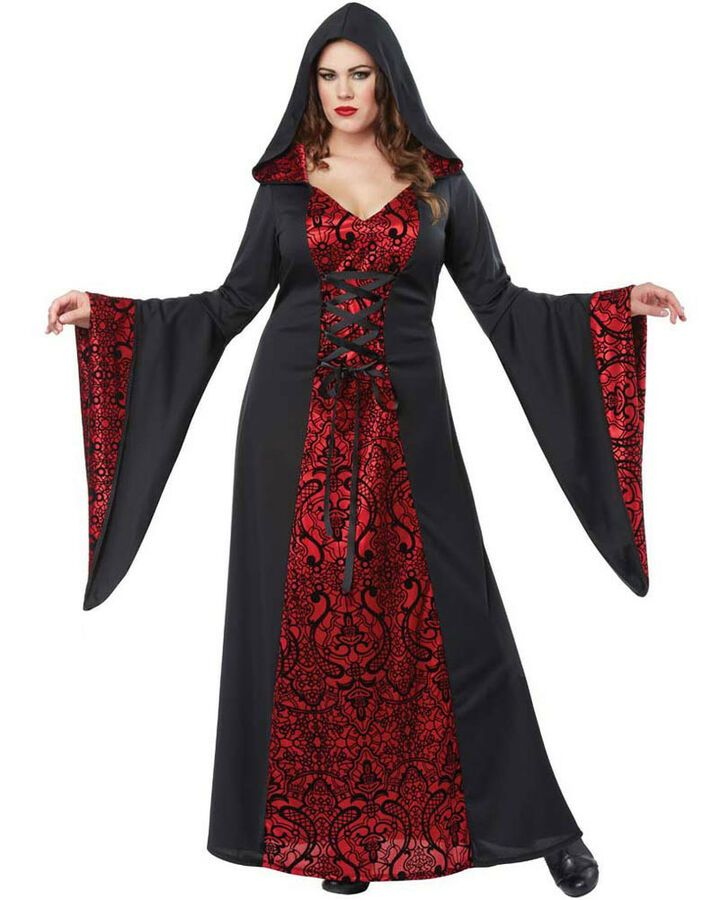 acd0471b41f Red Gothic Robe Womens Plus Size Costume#Robe#Gothic#Red | Halloween ...