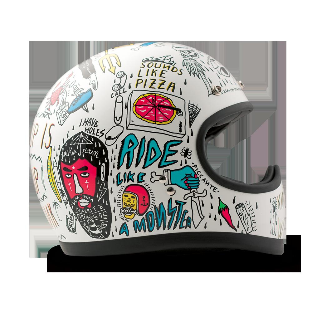 Dmd Racer Helmet Tribal Xo Exöhaušz Vintage Helmet Motorcycle