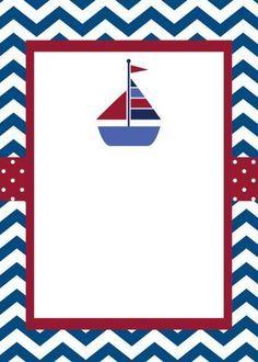 Invitaciones De Nautica Marinero