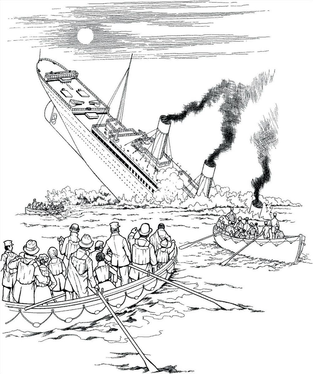 Titanic History Coloring Pages Free To Print Educative Printable Titanic Drawing Coloring Pages Titanic