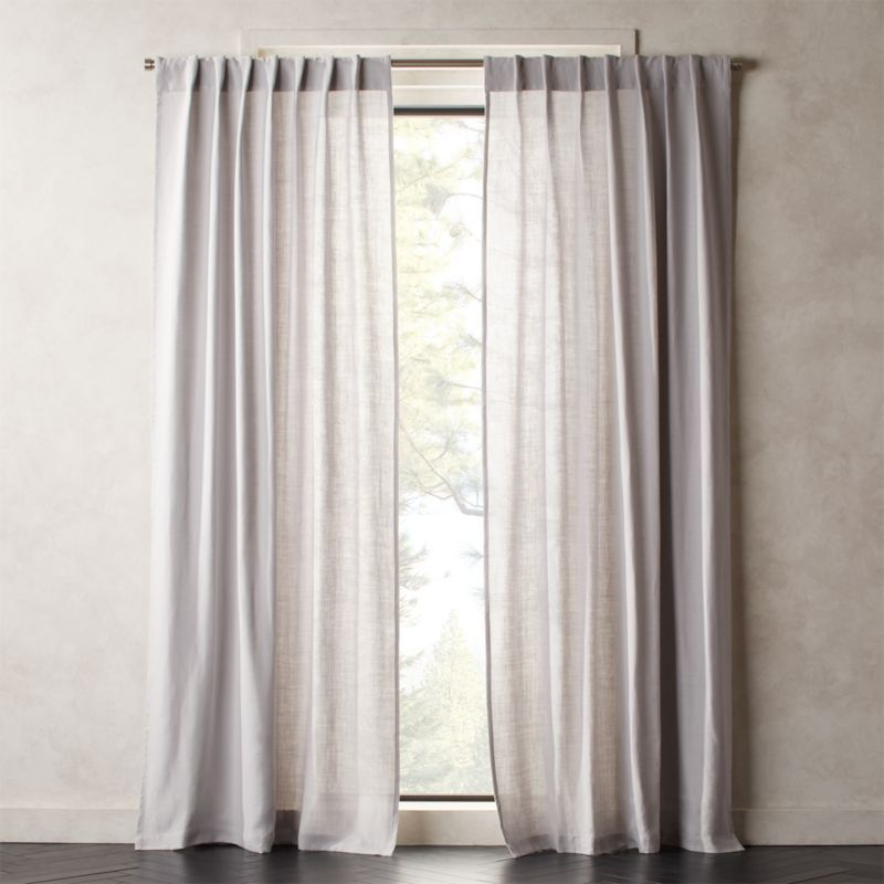 Heavyweight Silver Grey Linen Curtain Panel With Images Grey