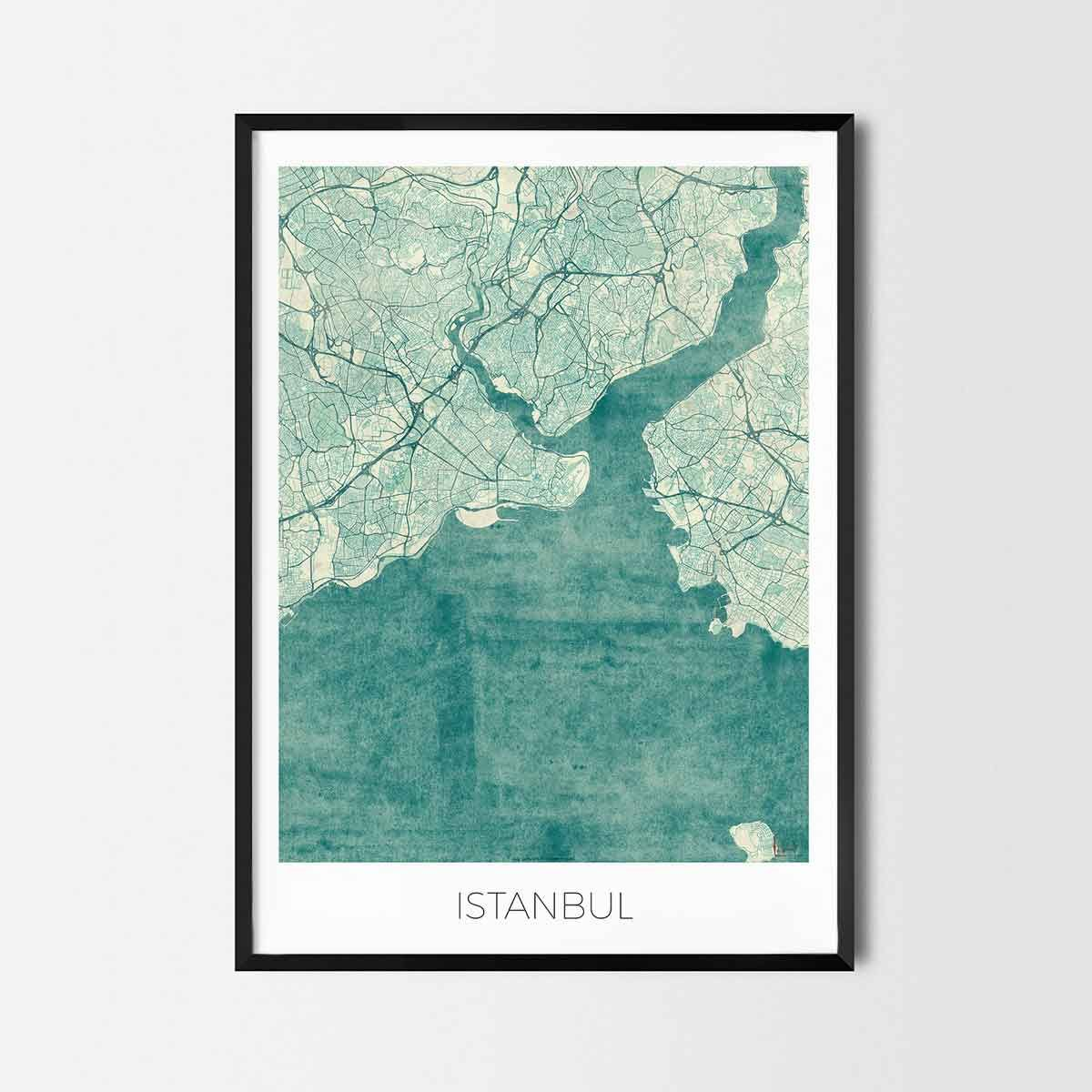 Istanbul art posters - City Art Map Posters and Prints   Art posters ...