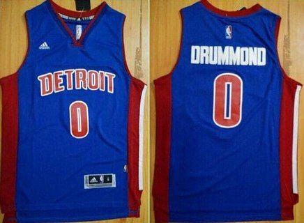 6690d4048 Men s Detroit Pistons  0 Andre Drummond Revolution 30 Swingman New Blue  Jersey