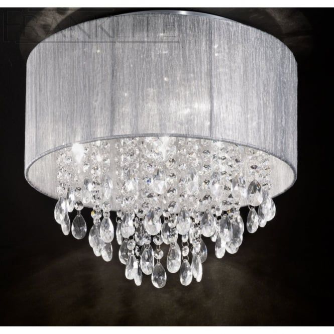 Franklite Lightings Royale Crystal Flush Ceiling Light Is Available From  Luxury Lighting. A Chrome Ceiling Plate With A Mass Of Crystal Glass Drops  And A ...