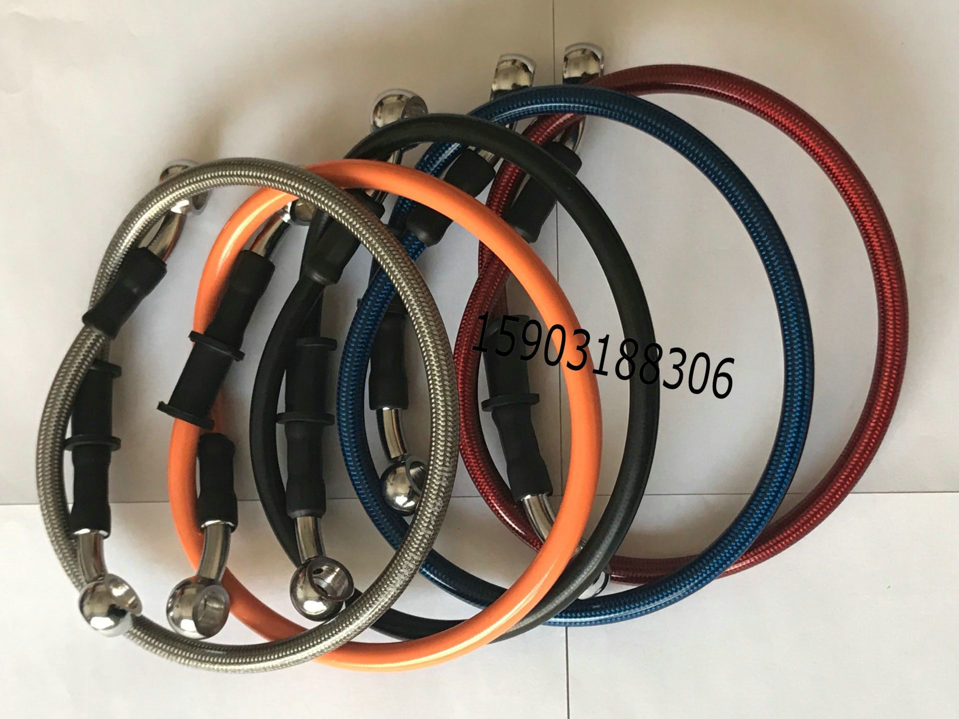 Brake Oil Hose Line Banjo Fitting Stainless Steel Braided Motorcycle Brake Lines Any Length Is Ok Aliexpress Hose Fittings