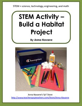 Stem Activity Build A Habitat 3rd Grade Habitat Pinterest