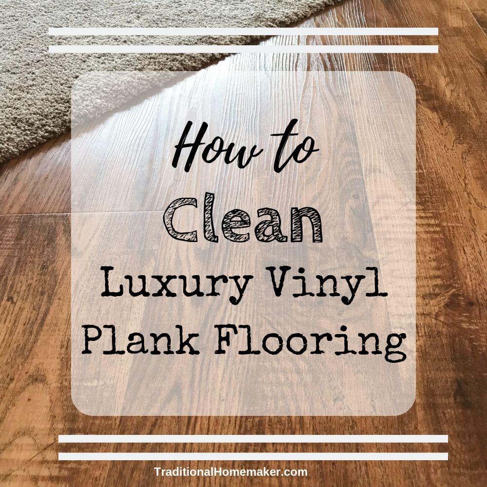 Clean Luxury Vinyl Plank Flooring