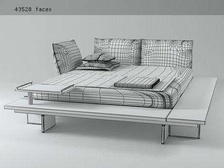 Maly Bed 3d Model By Design Connected Bed Furniture Bed Furniture