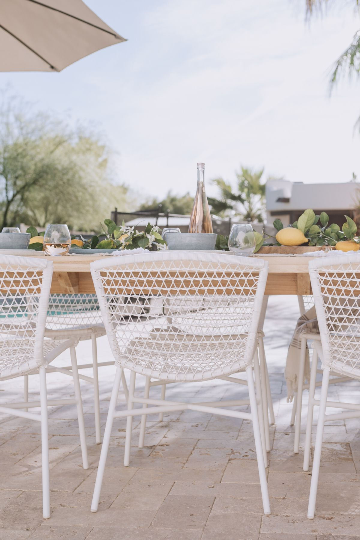 Sala White Dining Chair White Outdoor Furniture Outdoor Dining Chairs Outdoor Dining Spaces