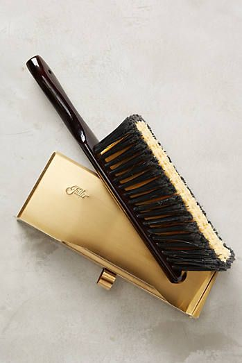 Brass Dustpan & Brush Set