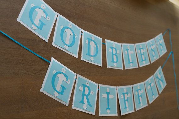 First Communion/Baptism Personalized banner by FestivaPartyDesign, $35.00