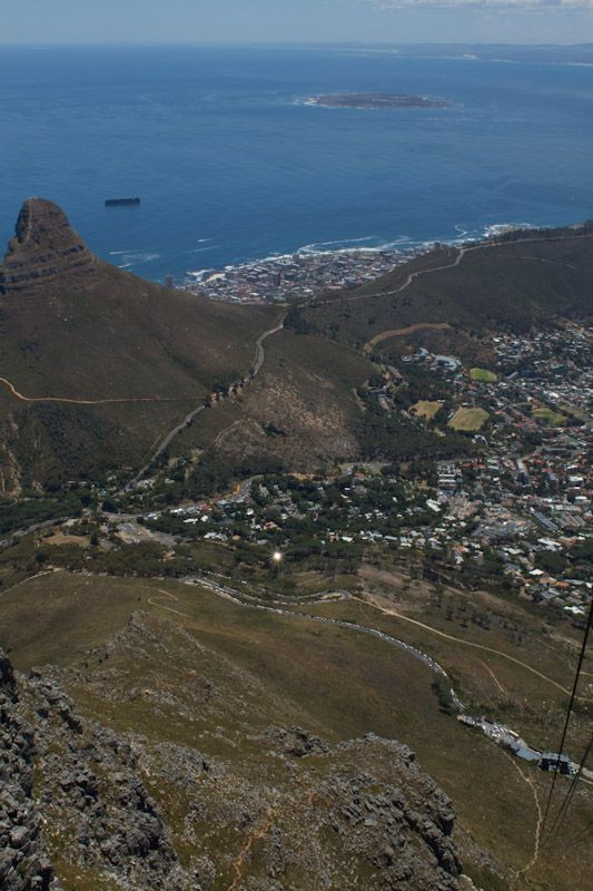 the view of capetown lion s peak and robbin island from taken from rh pinterest com
