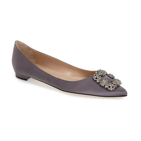 8ad13d9d9dc Manolo Blahnik  Hangisi  Flat ( 955) ❤ liked on Polyvore featuring shoes
