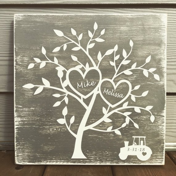 Tree Of Life Wood Wood Wall Hanging Family Tree Sign Wedding Wooden
