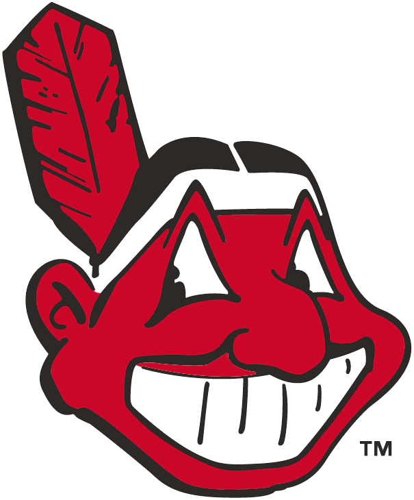 cleveland indians primary logo 1949 chief wahoo facing