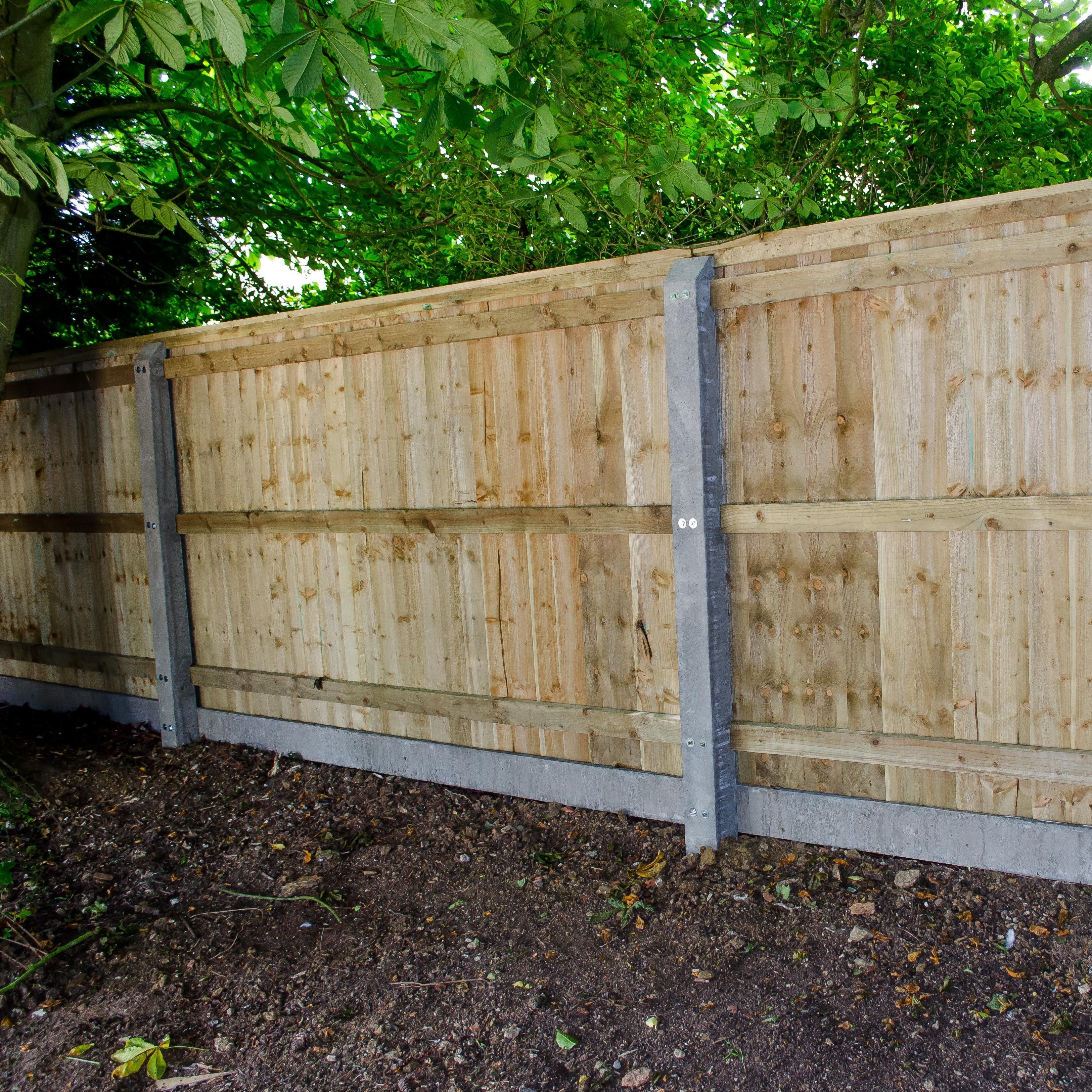 Closeboard Fencing With Concrete Posts And Concrete Gravel Boards Sold